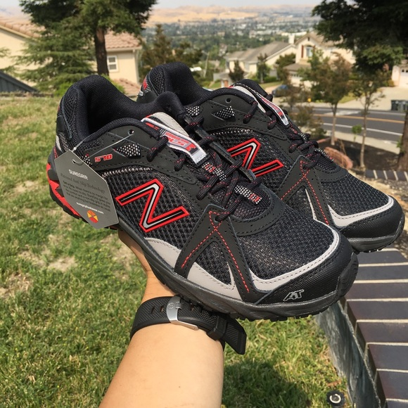 992d4ffb56c9c New Balance Shoes | Red Black Walking Non Slip Shoe Sz 7 | Poshmark